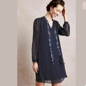 Anthropologie 111 Tylho Isla Polka Dot Shift Dress